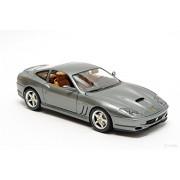 Burago Ferrari 550 Maranello 1:24 Diecast Scale Model Car (Silver)