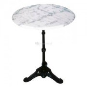 Express Tuintafel marmer wit rond 60cm