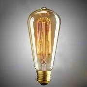 ST64 E27 40W calida luz blanca vintage edison bombilla filamento lampara lampada para la decoracion del hogar (110V)