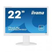 """Monitor iiyama B2280WSD-W1, 22"""", LCD, LED, 1680x1050, 5M:1, 5ms. 250cd, D-SUB, DVI, pivot, biely"""