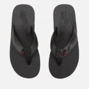 Polo Ralph Lauren Men's Sullivan III Tumbled Leather Sandals - Black - UK 7 - Black