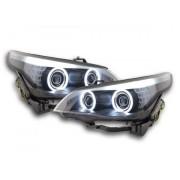 FK-Automotive fari Angel Eyes CCFL xeno BMW serie 5 E60/E61 anno di costr. 03-04 nero
