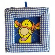 Tablou textil pentru perete Disney Tigru, carouri albastru I