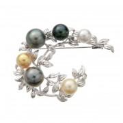 南洋真珠 リーフ ブローチ【QVC】40代・50代レディースファッション