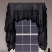 Haunted Mansion Halloween Party Black Gauze Decoration, Gauze, 2 Feet x 20 Feet , Pack of 2