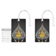 100yellow Luggage Tags- Lord Buddha Print High Quality PVC Tag with Silicon Strap- Ideal For Travel-Pack Of 2 Luggage Tag(Multicolor)