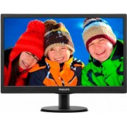 "Philips 193v5lsb2 Monitor Display 18.5"" W-Led Wide Hd Ready Luminosità 200 Cd/m2 Contrasto 700:1 / Smart 10.000.000:1 Risposta 5ms Vga Vesa Nero V-Line - 193v5lsb2"