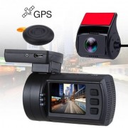 Mini 0906 Dual Full HD Car Dash Camera Video Recorder DVR with Sony Exmor Sensors GPS Remote CPL Filter Parking Mode