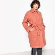 Manteau mi-long à ceinturer, 51 % laine