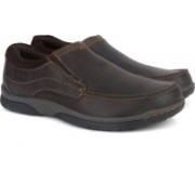 Clarks Randle Free Dark Brown Lea Boat Shoes For Men(Brown)