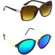 Hrinkar Over-sized Sunglasses(Clear, Blue, Green)