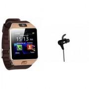 Zemini DZ09 Smart Watch and Reflect Earphone for SAMSUNG GALAXY NOTE 3 NEO(DZ09 Smart Watch With 4G Sim Card Memory Card| Reflect Earphone)