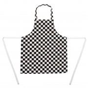 Whites Chefs Clothing Whites kinderschort zwart-wit geruit - Universele maat