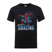 Marvel Camiseta Marvel Comics Spiderman Totally Amazing - Hombre - Negro - L - Negro
