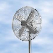 Julina chrome pedestal fan