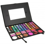 ER 78 Colores De Sombra De Ojos Cosmético Compone La Gama De Colores De Lipgloss Espejo Blush Del Kit De-negro.