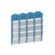 B2B Partner Plastikowy uchwyt ścienny na ulotki - 4x4 a4, niebieski