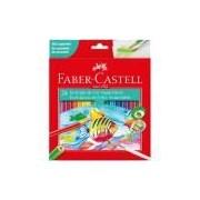 Lápis de cor 24 cores aquarelável sextavado 120224 Faber Castell