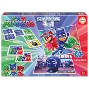 Superpack PJ Masks - 2 x puzzle, memo game, domino
