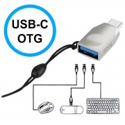 Hoco UA9 USB 3.1 Type-C / USB 3.0 OTG Adapter - Silver