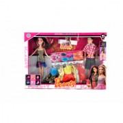 KidzFan Fashion Doll Barbie With Her Partner Sandals Comb Accessories and Clothes Best Gift For Birthday Girl