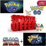 Combo - Pokemon Go cards (10 packs) + Cricket Attack Cards (10packs) MEGA PACK OFFER! Smart option to buy playing Pokemon And Slaam Attack cards for kids(non licensed)