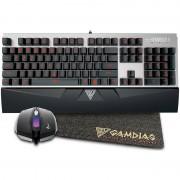 Kit Tastatura HERMES E1+Mouse DEMETER E2+Mouse pad GAMDIAS NYX E1 Gamdias Black