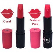 OTG Smooth Glide Creme Matt Lipstick - Coral/Natural Pink