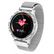 D18 1.08-inch Screen Smart Bracelet Heart Rate Female Physiological Reminder for IOS Android - Silver