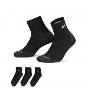 Nike Dry Cushion Quarter Trainingssocken (3 Paar) - Schwarz