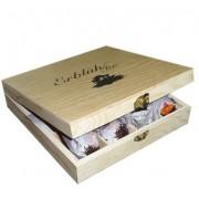 Exkluzivní dřevěná skřínka - 12 ks, černý čaj AKCE!!