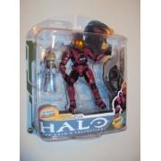 Halo 3 McFarlane Toys Series 5 (2009 Wave 2) Exclusive Action Figure CRIMSON Spartan Soldier EVA
