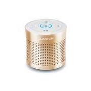 BOOM Caixa de som Bluetooth Dourado recarregável Quantum com microfone, viva-voz e Shaker