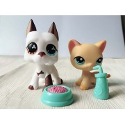 Mini Pet Shop Littlest Lps Great Dane Dog Puppy Shorthair Cat Kitten Rare Collection Toy Figure Girls Boys Children Kids Gift Lps #577 #339