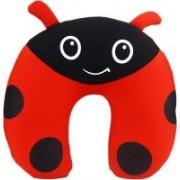 AVMART Black & Red Ultra Soft Foam Neck Travel Pillow for Car, Train, Flight, Bus etc Neck Pillow(Multi)