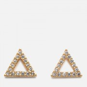 Astrid & Miyu Women's Tuxedo Triangle Earrings - Gold