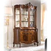 Glasvitrine Blattgold mit Intarsie