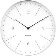 Karlsson Zegar ścienny Normann 27,5 cm biały