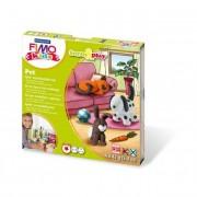 Gyurma készlet, 4x42 g, égethető, FIMO Kids Form & Play, állatok