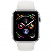 Apple Watch Series 4 GPS + Cellular 40mm Aluminio Plata con Correa Deportiva Blanca