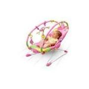 Cadeira De Descanso Musical Vibratória Rosa Tiny Love