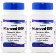 Healthvit Nianeed 500 Niacinamide 500mg 60 Tablets Pack of 4