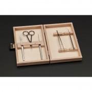 Ustensile Windaus pentru miscroscop 5 instrumente în etui din lemn