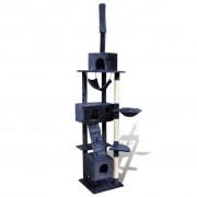 vidaXL Arranhador para gatos com 3 gateras, 220-240 cm / Azul escuro