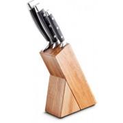 Rozsdamentes acél kés szett ( 3 darab ) akácfa tartóban LT2057