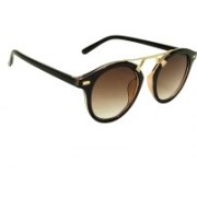 Mangal Brothers Round Sunglasses(Brown)