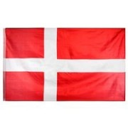 Denemarken Vlag Dannebrog 90x155cm - Rood/Wit
