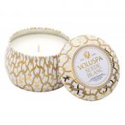 Voluspa Suede Blanc Decorative Tin Candle (25h)