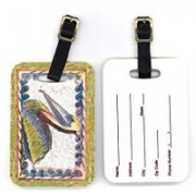 Caroline's Treasures 8057BT 4 x 2.75 in. Pair of Bird Pelican Luggage Tag(Multicolor)