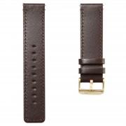 Lucleon Braunes Leder Uhrenarmband Mit Goldfarbener Schließe